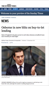 It looks like it's 'open season' for buy-to-let investors as far as the Conservatives are concerned.