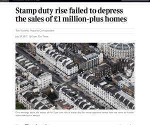 Stamp Duty changes failed to depress the market
