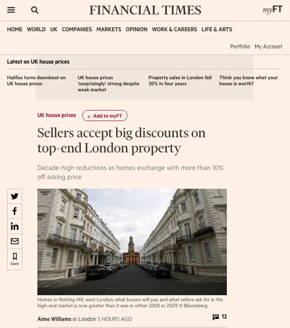 Big discounts on top-end London property
