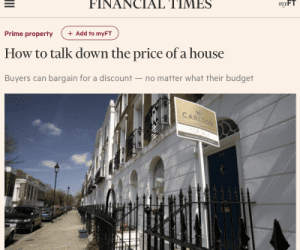 How to talk down the price
