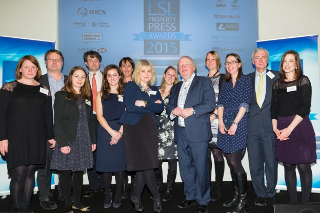 The gold award winners with John Sargent, former BBC political correspondent
